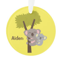 Cute Baby Koala Bear and Mommy Kids Room Decor Ornament