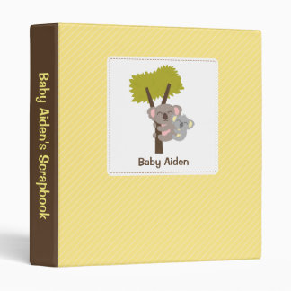 Cute Baby Koala Bear and Mommy Scrapbook Binder