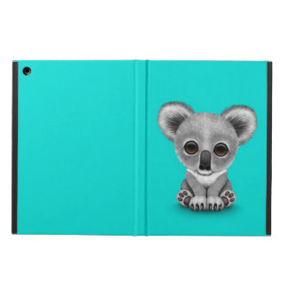 Cute Baby Koala Bear Cub on Blue iPad Air Covers