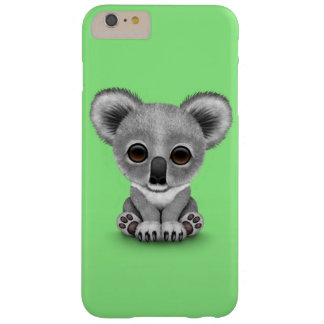 Cute Baby Koala Bear Cub on Green Barely There iPhone 6 Plus Case