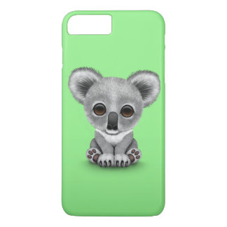 Cute Baby Koala Bear Cub on Green iPhone 7 Plus Case
