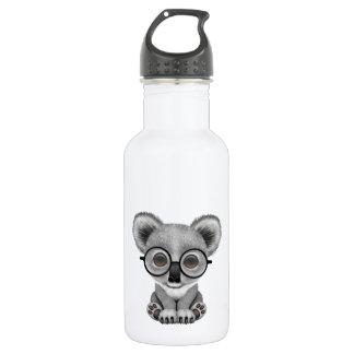 Cute Baby Koala Bear Cub Wearing Glasses Stainless Steel Water Bottle