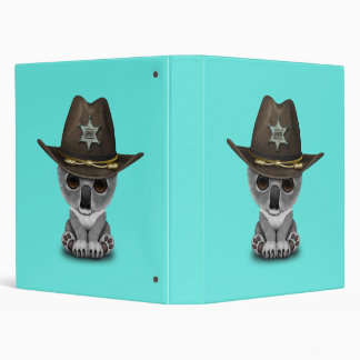 Cute Baby Koala Bear Sheriff Binder