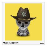Cute Baby Koala Bear Sheriff Wall Sticker