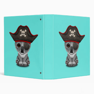 Cute Baby Koala Pirate 3 Ring Binder