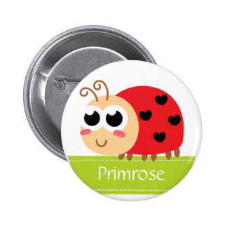 Cute Baby Ladybug with heart spots Pinback Button