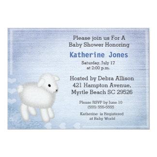 Cute Baby Lamb Baby Shower Invitation