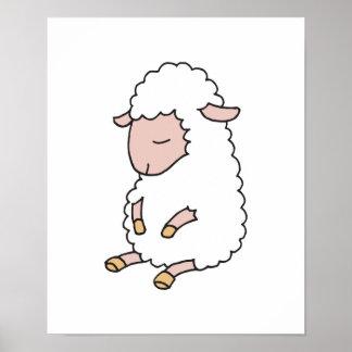 cute baby lamb posters