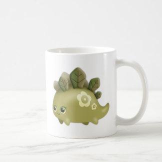 Cute Baby Leafy Dino - kawaii style creature Coffee Mug