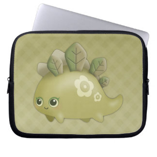 Cute Baby Leafy Dino - kawaii style laptop sleeve