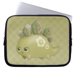 Cute Baby Leafy Dino - kawaii style laptop sleeve