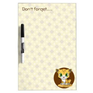 Cute baby leopard cat cartoon kids dry-erase board
