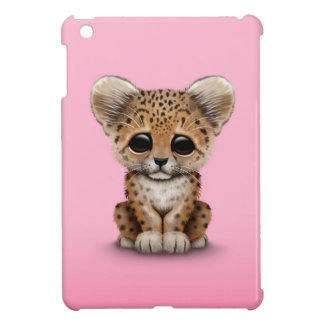Cute Baby Leopard Cub on Pink Case For The iPad Mini