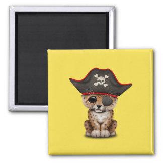 Cute Baby Leopard Cub Pirate Magnet