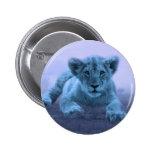 Cute baby lion cub 2 inch round button