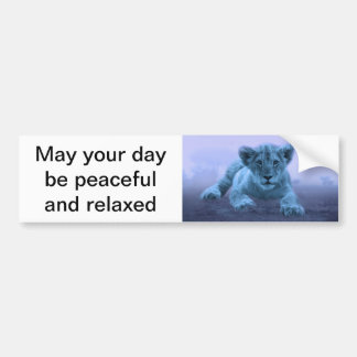 Cute baby lion cub bumper sticker