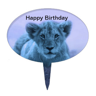 Cute baby lion cub cake topper