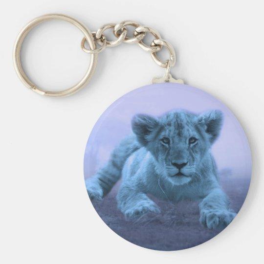 Cute baby lion cub keychain
