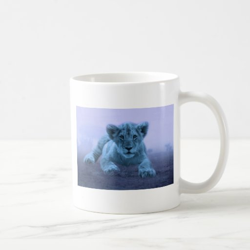 Symbols For Strength And Dignity: Cute Baby Lion Cub Mug From Zazzle.com