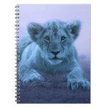 Cute baby lion cub note books