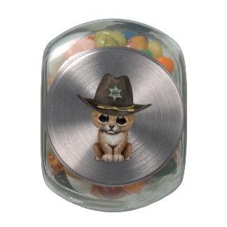 Cute Baby Lion Cub Sheriff Jelly Belly Candy Jar