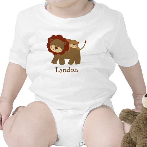 Cute Baby Lion Personalized Baby T Shirt Zazzle