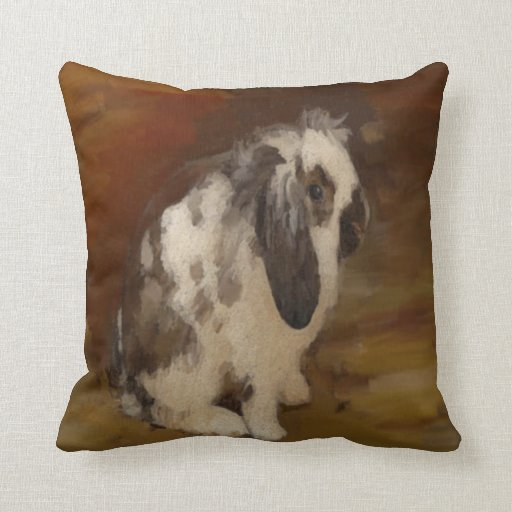 Decorative Pillows With Rabbits : Cute, Baby Lop Eared Rabbit Throw Pillow Zazzle