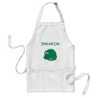 Cute Baby Lt Green Dinosaur Dinos Are Cool Adult Apron