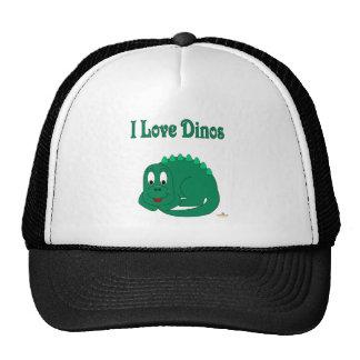 Cute Baby Lt Green Dinosaur I Love Dinos Trucker Hat
