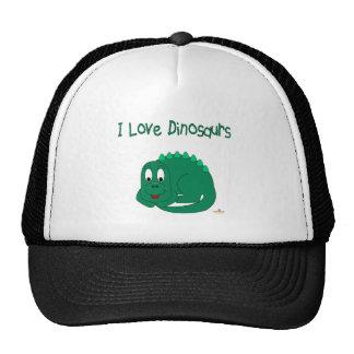 Cute Baby Lt Green Dinosaur I Love Dinosaurs Trucker Hat