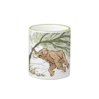 Cute Baby Mammoth Ringer Mug