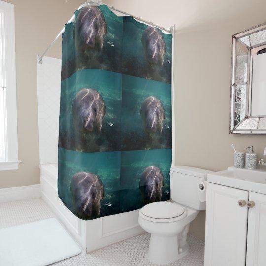 Cute Baby Manatee Shower Curtain