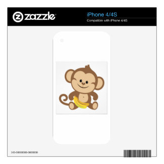cute baby monkey decals for the iPhone 4