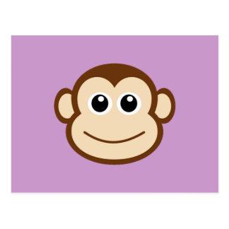 Cute Baby Monkey Face Postcard