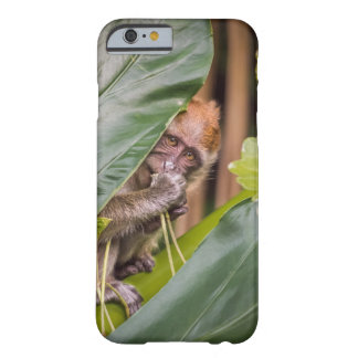 Cute Baby Monkey Hiding Behind Leaves Barely There iPhone 6 Case