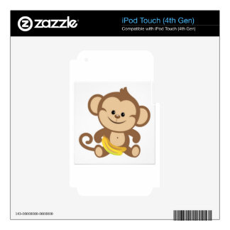 cute baby monkey iPod touch 4G decal