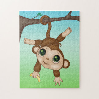 Cute Baby Monkey Jigsaw Puzzle