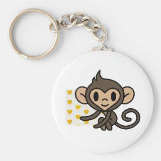 Cute baby monkey! keychain