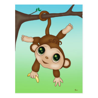 Cute Baby Monkey Postcard
