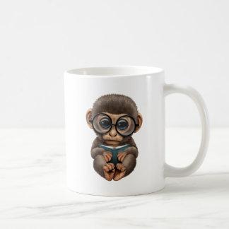 Cute Baby Monkey Reading a Book Coffee Mug