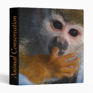 Cute Baby Monkey  Rescued 3 Ring Binder