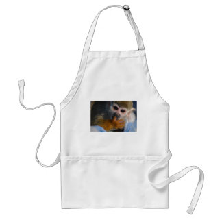 Cute Baby Monkey  Rescued Adult Apron