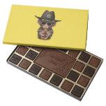 Cute Baby Monkey Sheriff 45 Piece Box Of Chocolates