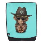 Cute Baby Monkey Sheriff Backpack