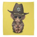Cute Baby Monkey Sheriff Bandana