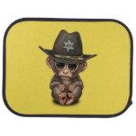 Cute Baby Monkey Sheriff Car Mat