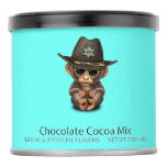 Cute Baby Monkey Sheriff Hot Chocolate Drink Mix