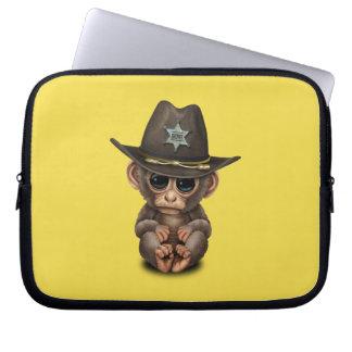 Cute Baby Monkey Sheriff Laptop Sleeve
