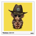 Cute Baby Monkey Sheriff Wall Decal