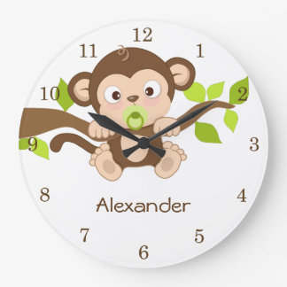 Cute Baby Monkey Wall Clocks